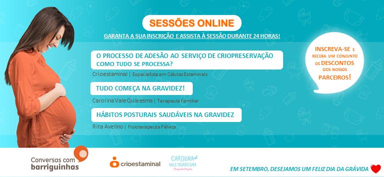 Conversas com Barriguinhas - Sessão online 23 setembro